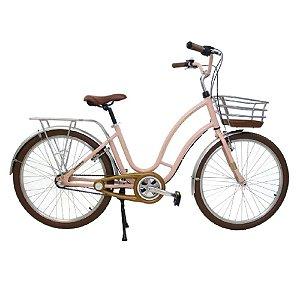 Bicicleta Aro 26 Vintage Treme Terra - Rosa