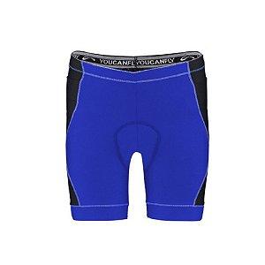 Bermuda de Ciclismo Shorts Feminino Sol Sports - Azul