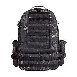 Mochila Tática Defender Invictus 55L - Camuflado Multicam Black