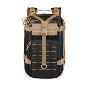 Mochila Assault Laser Cut Invictus - Preto e Coyote