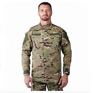 Farda Tática Bélica - Calça Combat e Gandola Assault Camuflada Multicam
