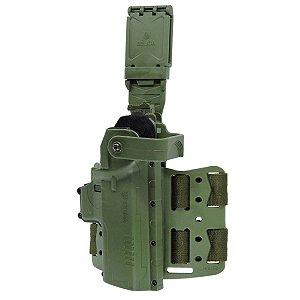 Coldre Hammer II Pro Em Polímero Bélica Canhoto - Verde