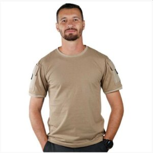 Kit Com 2 Camisetas Masculina Ranger Bélica - Coyote e Preta