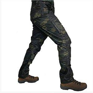 Calça Masculina B10 Camuflada Bélica - Multicam Black