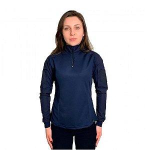 Combat Shirt Feminina Bélica - Azul
