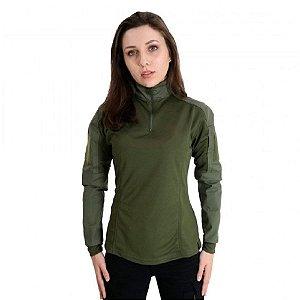 Combat Shirt Feminina Bélica - Verde