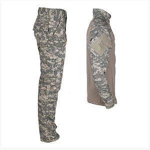 Farda Tática Bélica - Calça e Combat Shirt Digital Areia