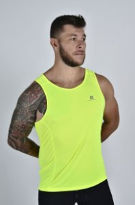 Regata Gumm Tech Run Amarelo Flúor Masculina