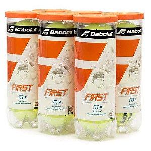 Bola de Tênis Babolat First Pack com 6 Tubos