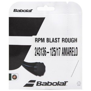 CORDA BABOLAT RPM BLAST ROUGH 17L 1.25MM AMARELA - SET