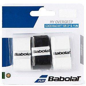Overgrip Babolat My Grip X3 Branco e Preto