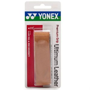 CUSHION GRIP YONEX DE COURO NATURAL PREMIUM