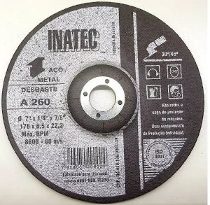 "Disco Desbatse Metal 4.1/2X7/8"" Inatec"