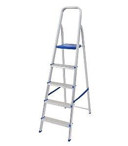 Escada Doméstica de Alumínio Soft com 5 degraus
