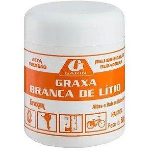 Graxa de Litio Branca para Rolamentos Garin - 80 gramas