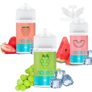 Naked BASIC ICE 60ml - NOVAS! Strawberry / Grape / Watermelon / Pineapple