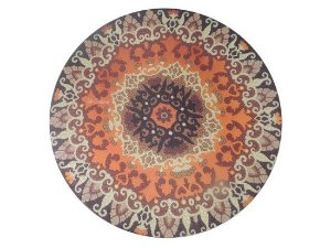 Sousplat Sublimado Kit c/ 4 unid. Mandala marrom (Capa + MDF) - cod.03