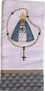 Pano de Prato em Patchwork Santos - Nossa Sra. Aparecida (cod.04)