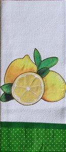 Pano de Prato em Patchwork - Limões (cod.04)