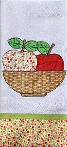 Pano de Prato em Patchwork - Cesta maçãs (cod.19)