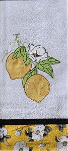 Pano de Prato em Patchwork - Limão Siciliano (REF.90)