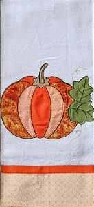 Pano de Prato em Patchwork - Abóbora (cod.43)