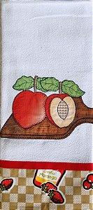 Pano de Prato em Patchwork - Tábua Frutas (cod.45)