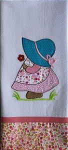 Pano de prato em patchwork – Menina (cod.29)