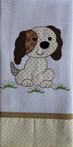 Pano de Prato em Patchwork Animais - Cachorro (cod.41)