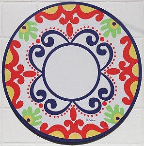 Capa de Sousplat em tecido poliéster  Sublimado - mandala cor (cod.15)