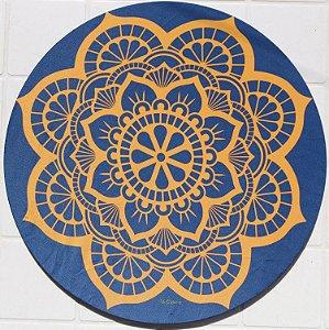 Capa de Sousplat em tecido poliéster  Sublimado - Mandala Rendada (cod.32)