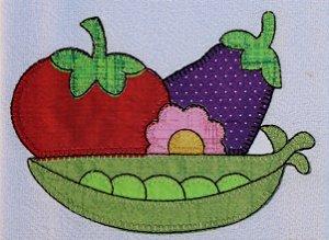 Pano de Prato em Patchwork - Legumes (cod.39)