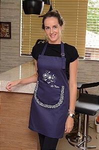 Avental feminino com bolso em fluflu opção cores