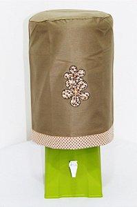 Capa de Galão de Água 20 litros - Cor: Caqui - Flores
