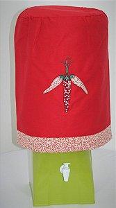 Capa de Galão de Água 20 litros - Cor: Vermelho - Pimenta