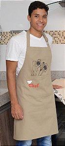 AVENTAL MASCULINO com bolso Chef/Talheres