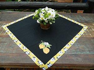 KIT Toalha de 79X79cm+ Pano de Prato + Bate mão - Limão Siciliano