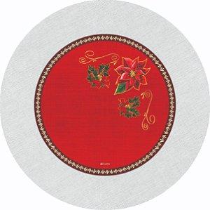 Capa de Sousplat em tecido poliéster  Sublimado  NATAL Estampa 003