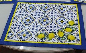 Jogo  Americano 6 peças - Azulejo com Limão