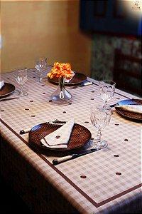 Toalha de Mesa em Linho - Estampa: Café