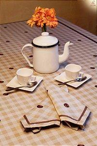 Toalha de Mesa  estampa Café - Linho