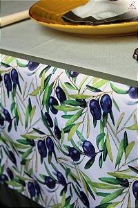 Toalha de Mesa Azeitonas - Tecido com Impermeabilidade