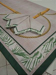 Toalha de Mesa Carla  (bambu e corda) - Linho