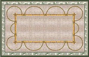 Toalha estampa de bambu e corda - Tecido com Impermeabilidade