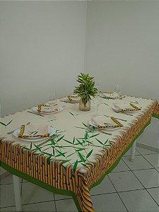 Toalha de Mesa Luna (Bambu folhas) - Linho