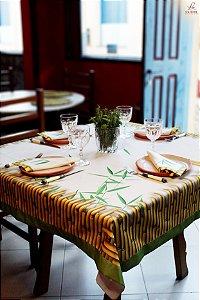 Toalha de Mesa  Bambu folhas - Tecido com Impermeabilidade