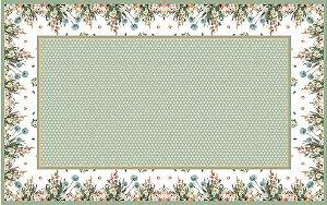 Toalha estampa Barrado de flores - Tecido com Impermeabilidade