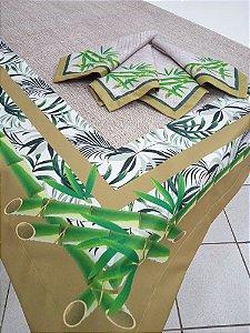 Toalha de  Mesa Luana (Bambu verde)- Tecido com Impermeabilidade