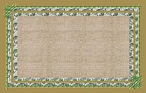 Toalha estampa Bambu verde - Linho