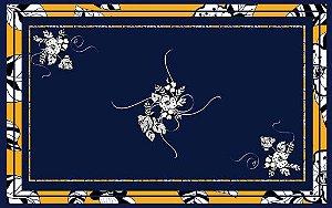 Toalha de Mesa  Azul Ibisco - Tecido com Impermeabilidade